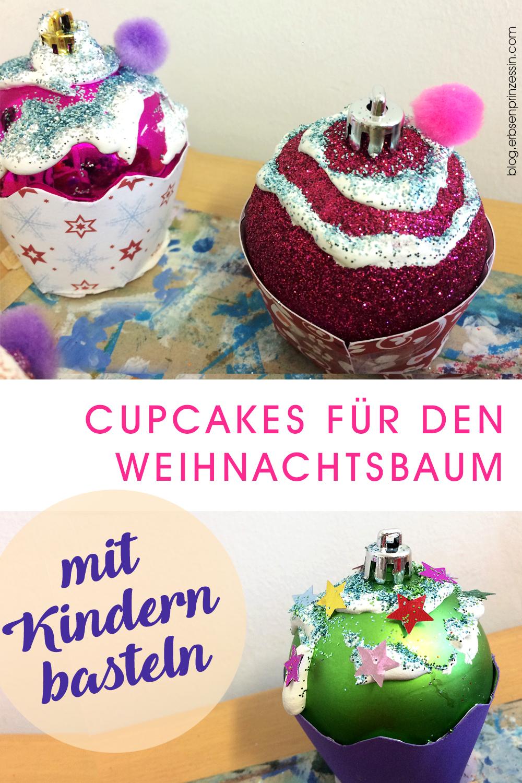 basteln mit Kindern: Cupcakes für den Weihnachtsbaum