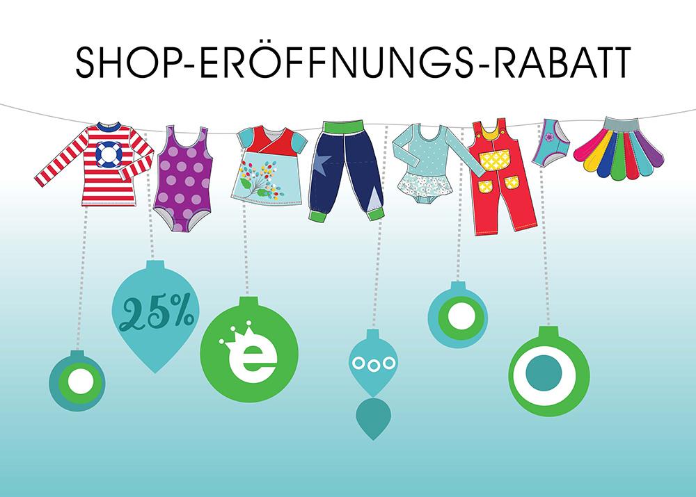 25% Shop-Eröffnungs-Rabatt