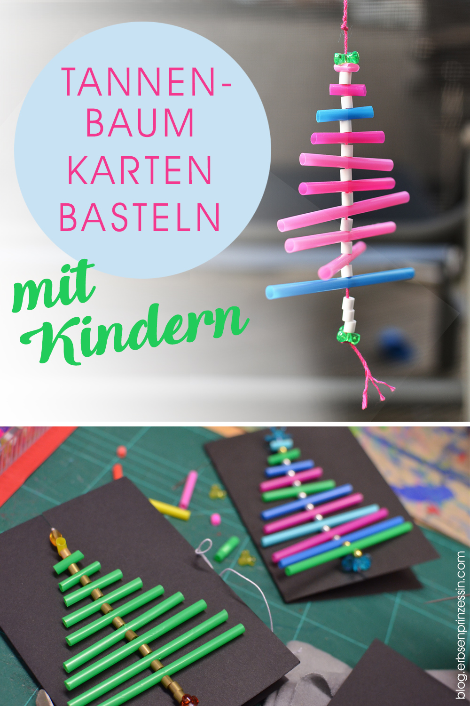 Advents-Basteln mit Kindern (Grundschule): Weihnachts-Karten mit Tannenbaum