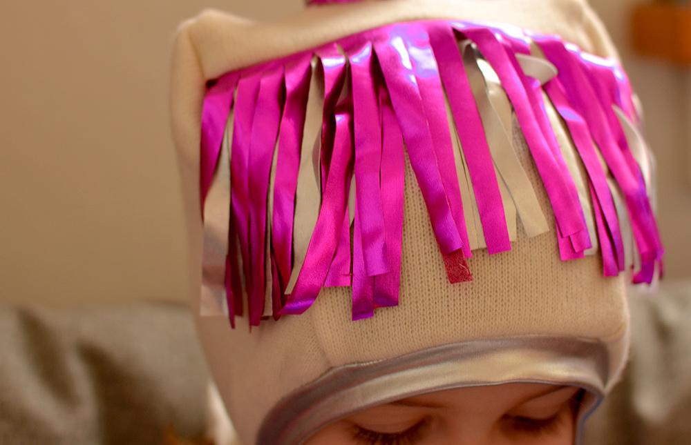 Mütze mit Pferde-Pony nähen für Fasching