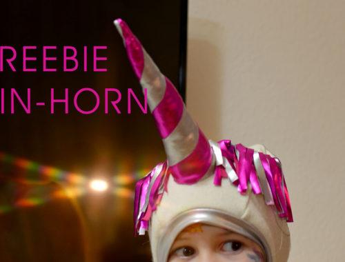 Freebie Ein-Horn: Schnittmuster für ein zweifarbiges, genähtes Einhorn-Horn