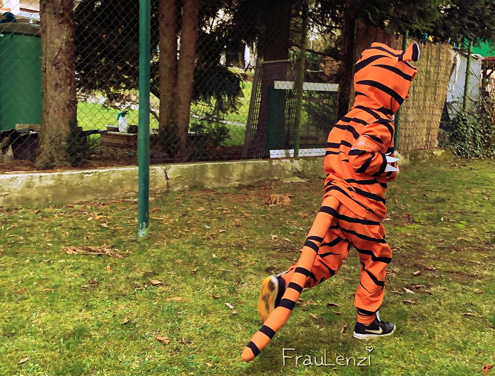 Tiger Verkleidung naehen