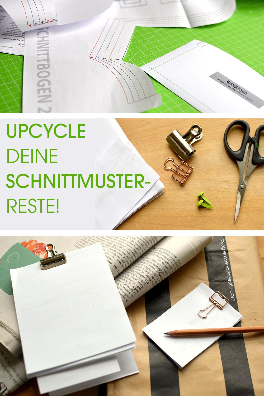 Upcycling: Notizblöcke aus den Resten deiner Schnittmuster-Ausdrucke basteln