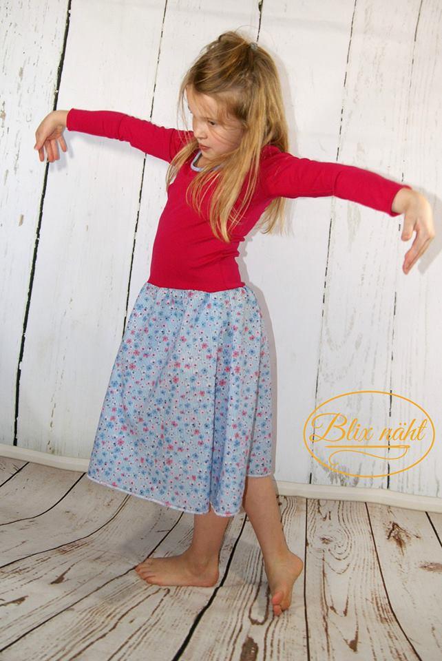 Schnitt und nähanelietung Mädchenkleid, Designbeispiel von Blix näht