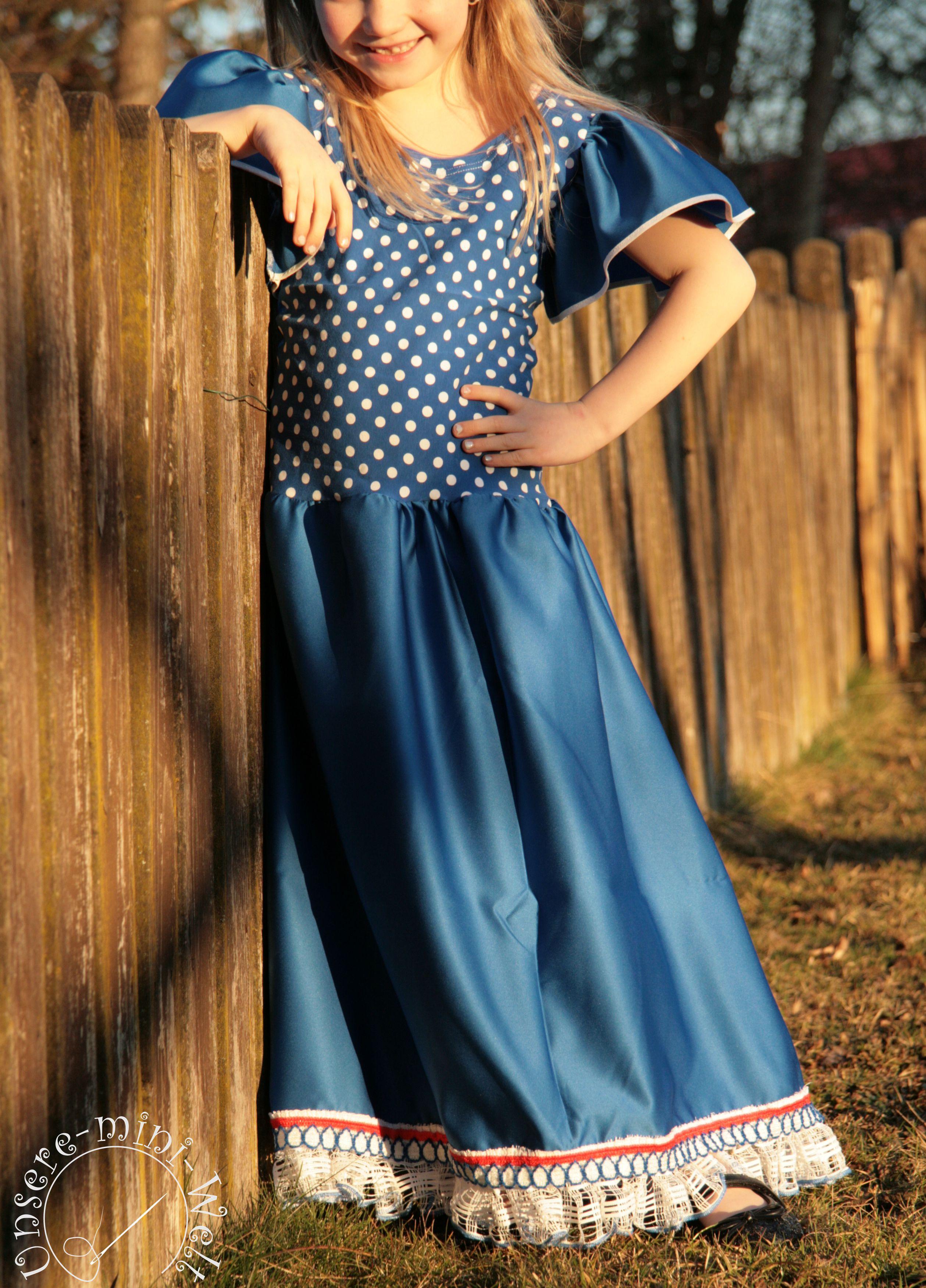 langes festliches Kleid für Mädchen: e-Book & Nähanleitung