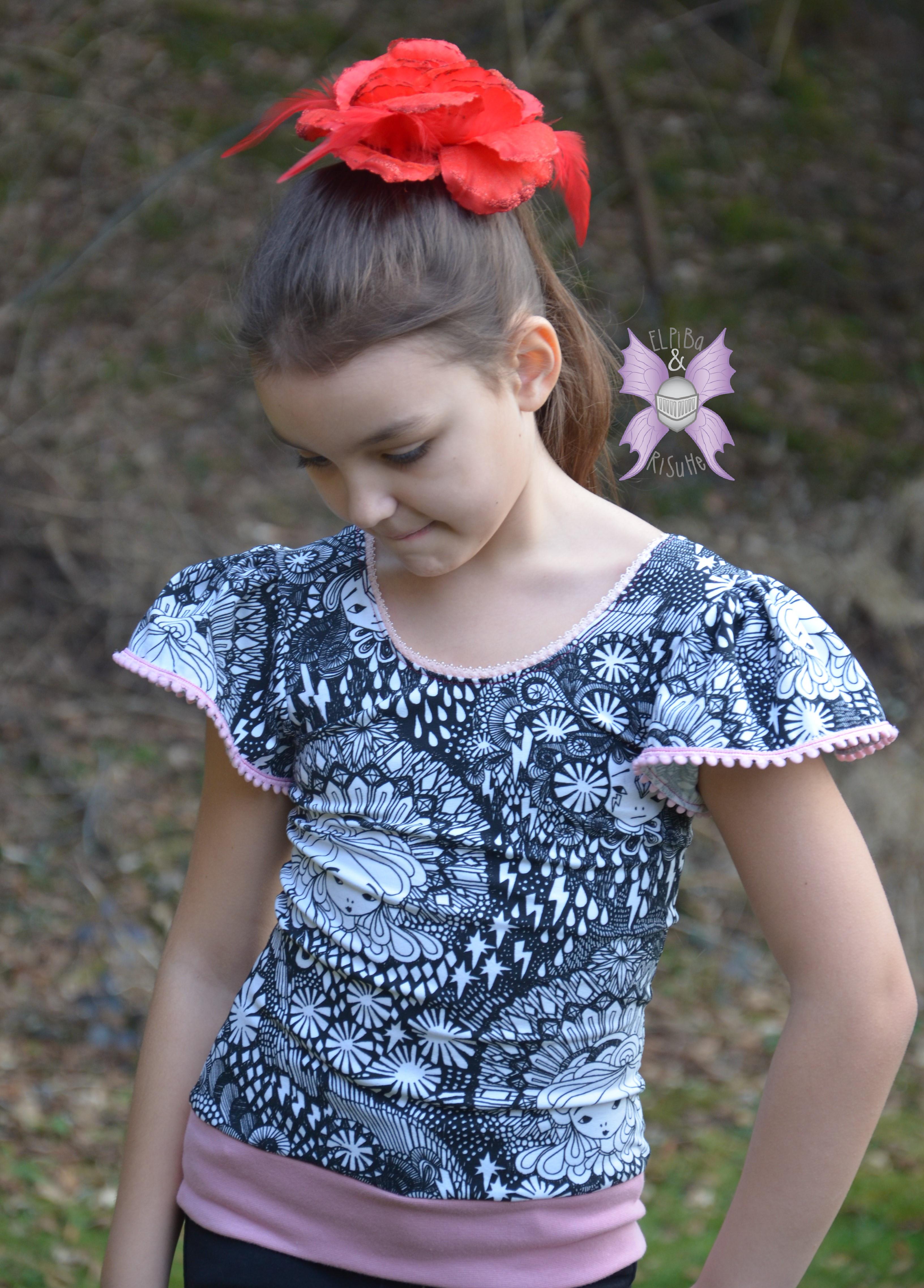 Sommertop mit Flügelärmeln für Mädchen nähen