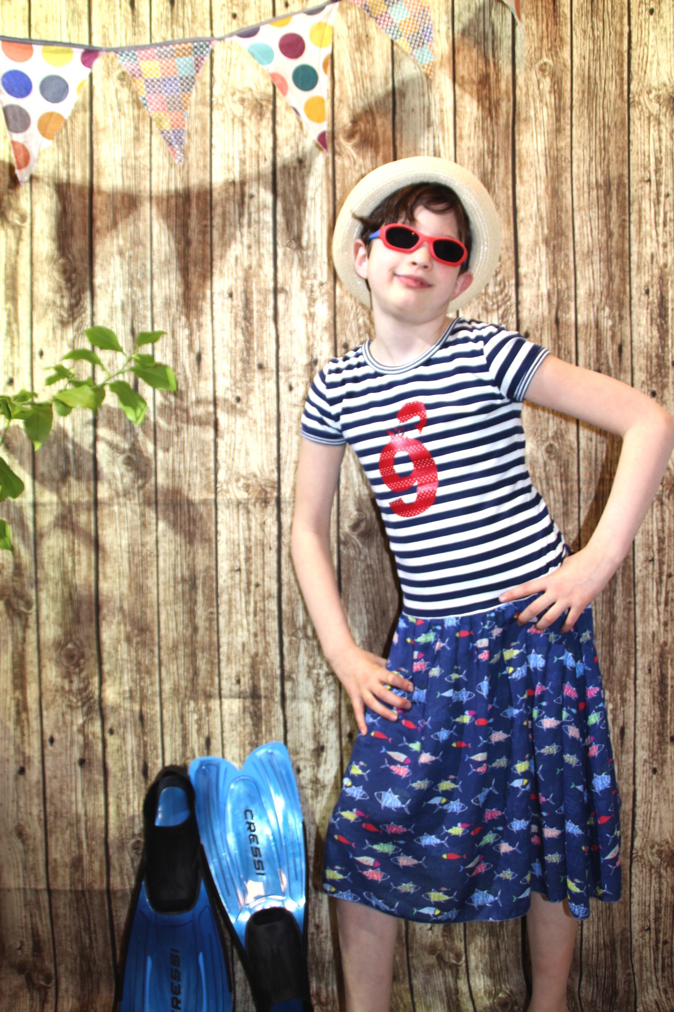 Sommerkleid nähen aus Jersey und baumwolle