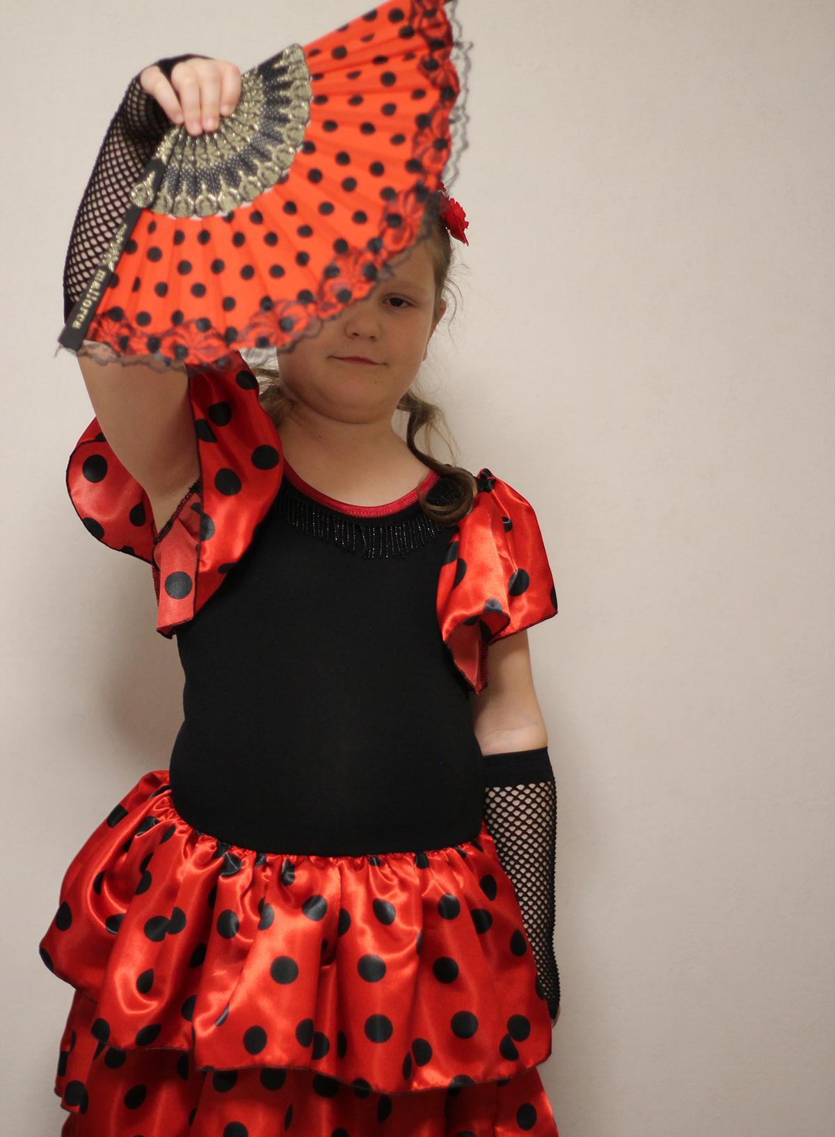 Flamenco-Mäschenkleid genäht von Lil Luci