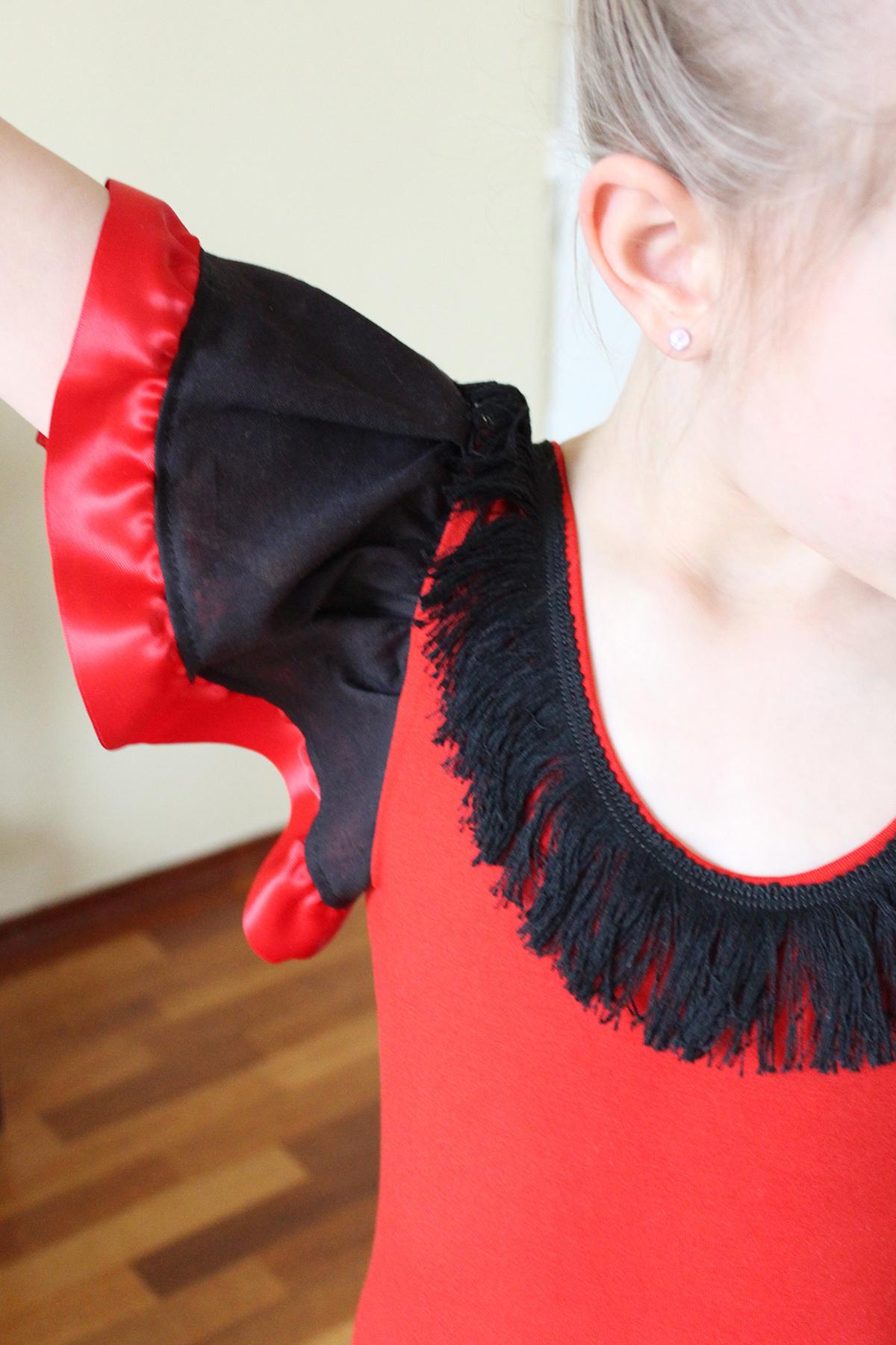 flamencokleid Schnittmuster: Rüschenärmel