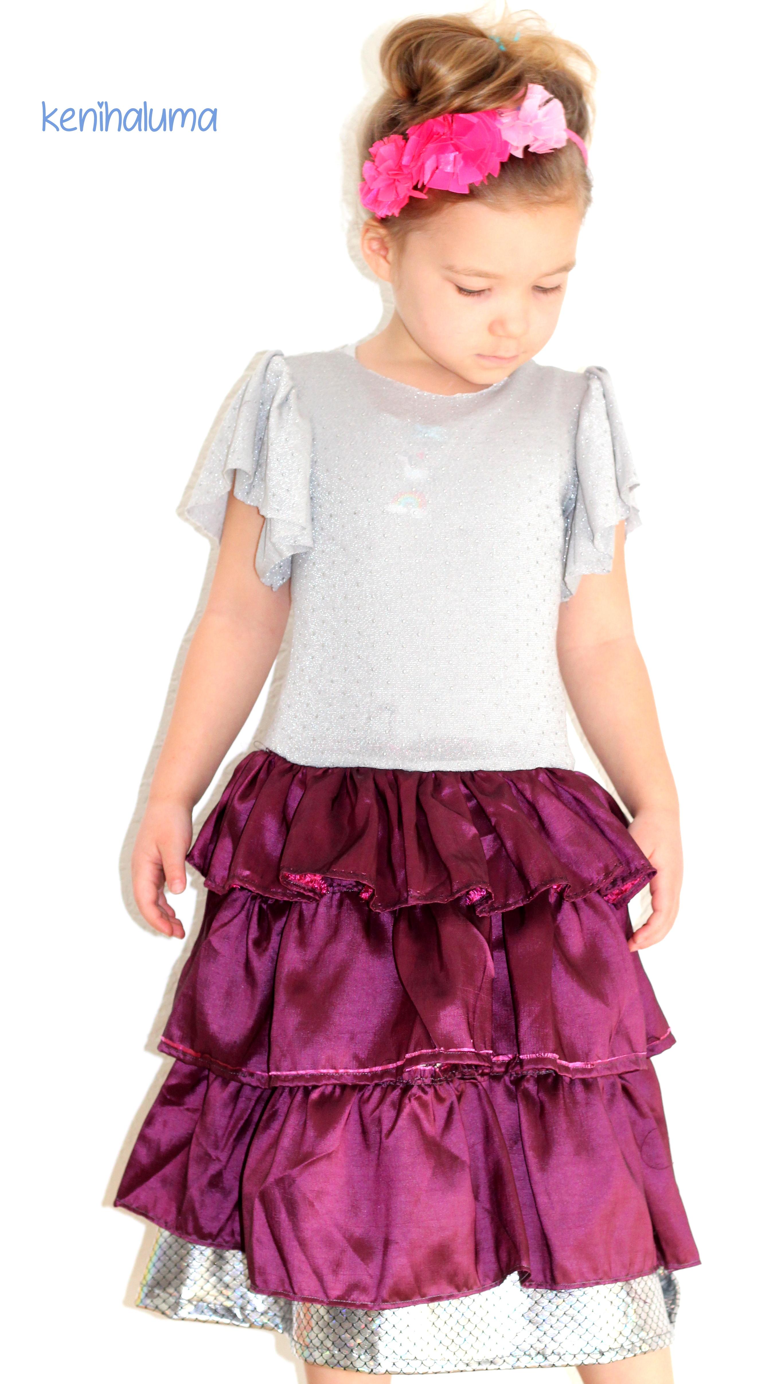 Prinzessin-Kleid nähen mit Rüschen