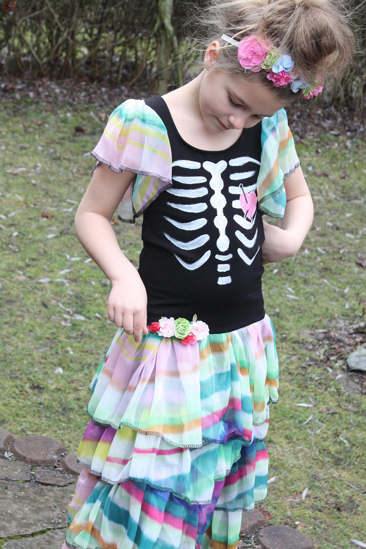 Karneval-Kleid Día de los Muertos genäht von Schneckengrün