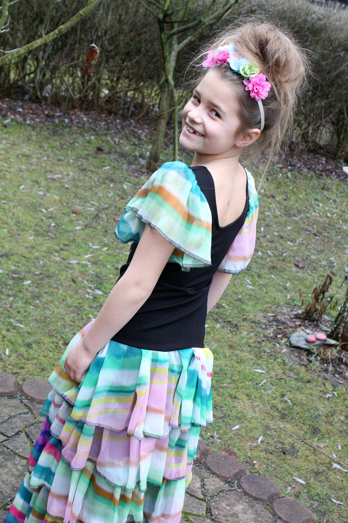 Día de los Muertos: Verkleidung, Rüschenkleid, von Schneckengrünes