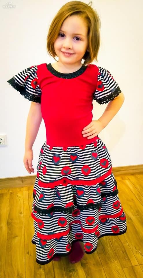 Fllatterärmel - Rüschenkleid für Mädchen nähen