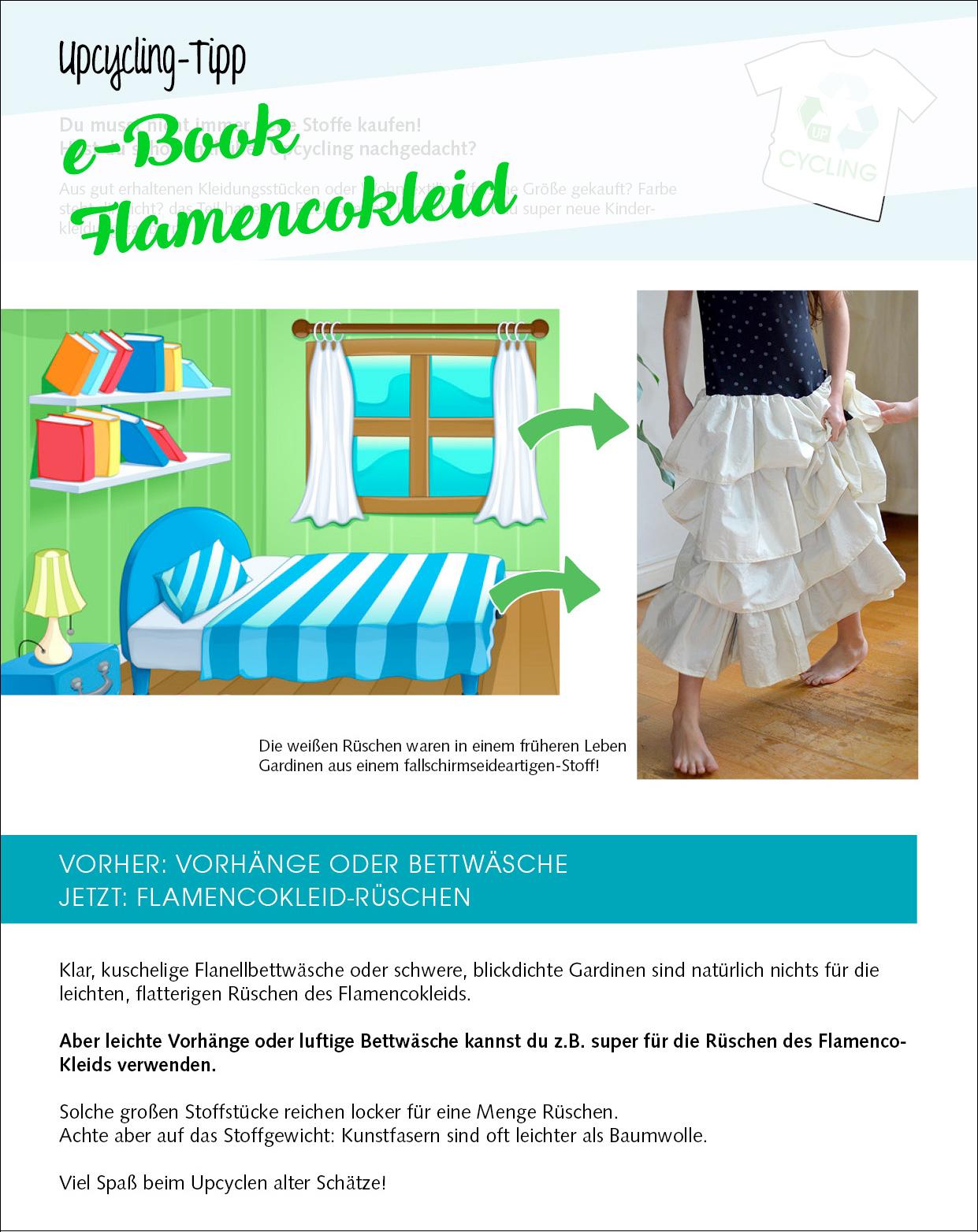 Upcycling aus Vorhängen oder Bettwäsche: Rüschenkleid nähen