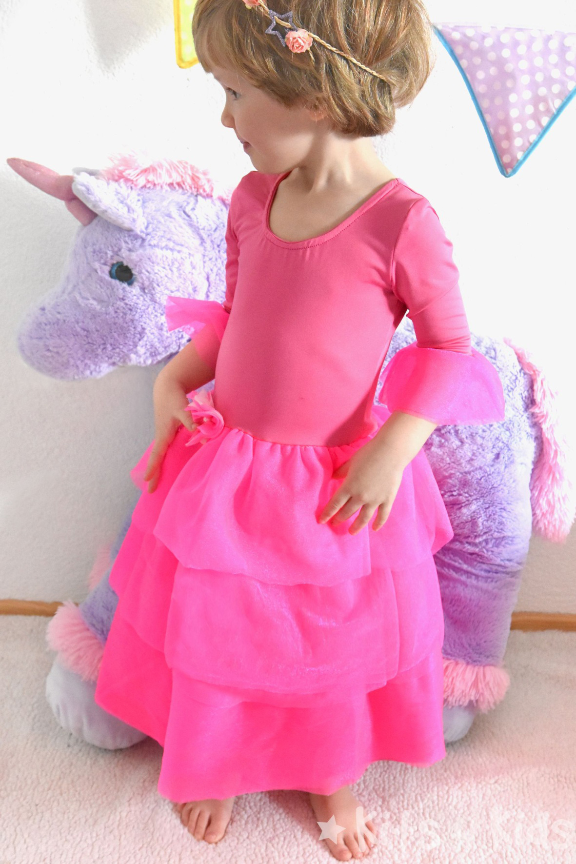 kits4kids: Prinzessin-Kleid in neonpink