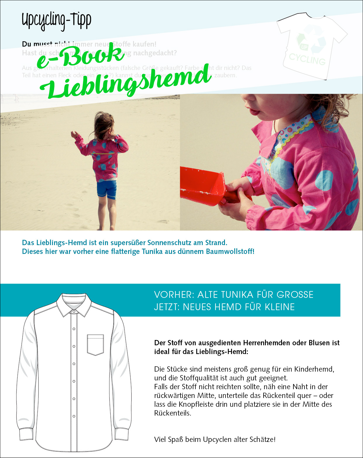 Upcycling-Tipp: kinderhemd aus baumwollstoff nähen