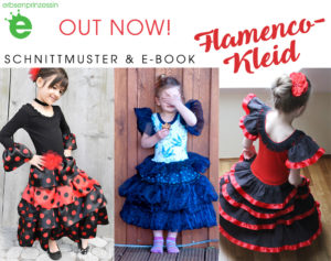 out now: Schnittmuster & Näh-e-book Flamencokleid für Mädchen