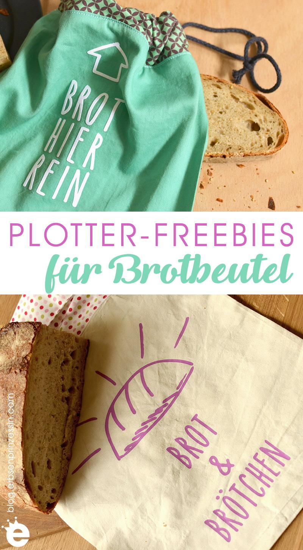 """Gratis-Plotter-Datei """"Brot & Brötchen"""": Plotterfeebie für Brotbeutel"""