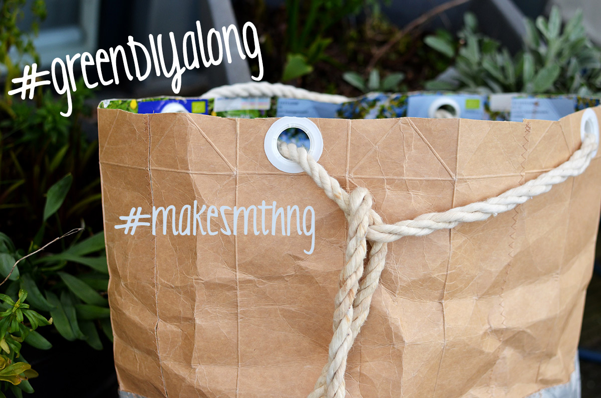 Gartensack aus tetrapaks nähen: Beitrag zum greenDIYalong, makesmthng