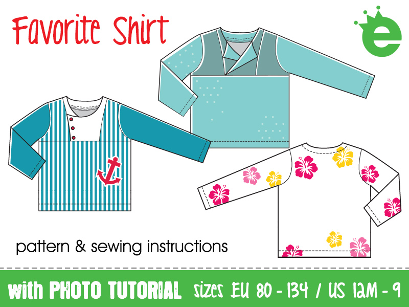 Favorite Shirt sewing pattern for children blouse cotton
