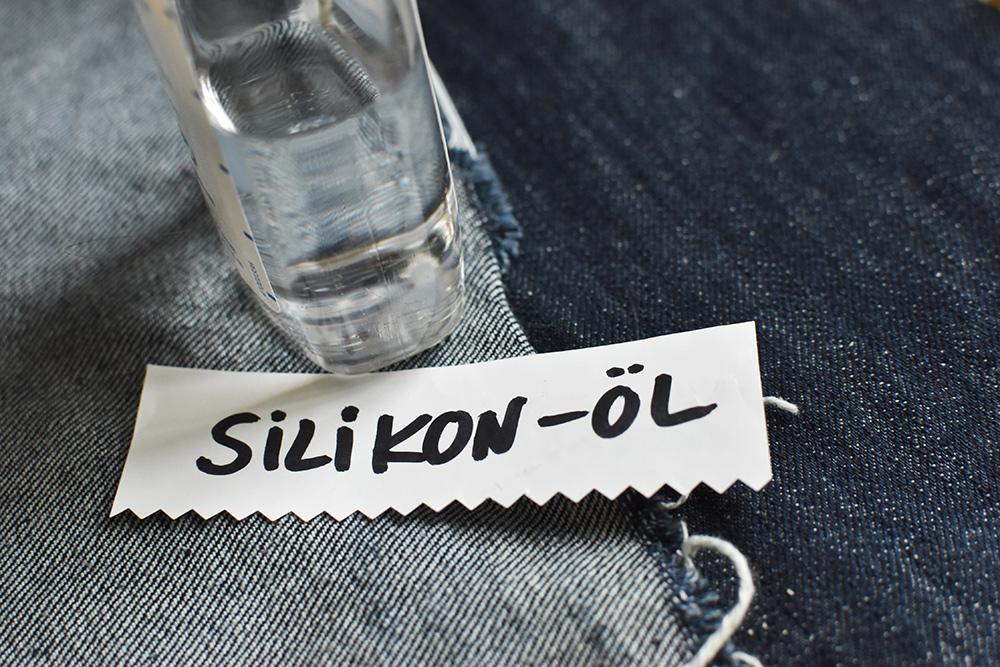 Baumwollstoff beschichten mit Silikon-Öl