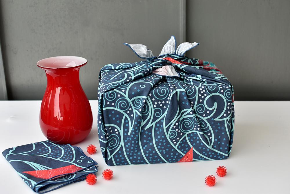 Furoshiki-Tuch asl Alternative zu geschenkpapier