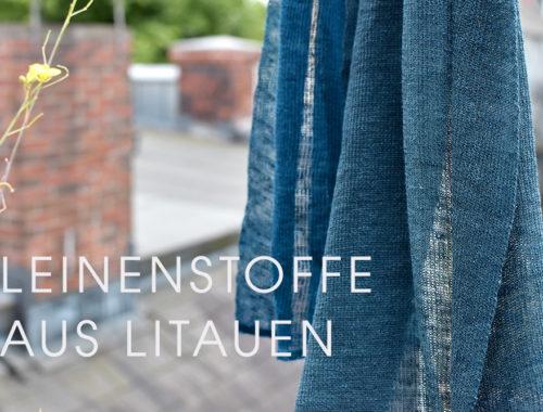 Leinenstoffe aus Litauen: Strickschal aus Leinengarn