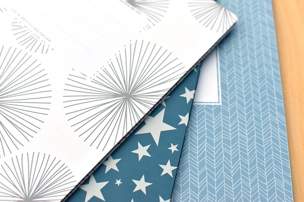 plastikfreie Umschläge für Schulhefte aus Papier