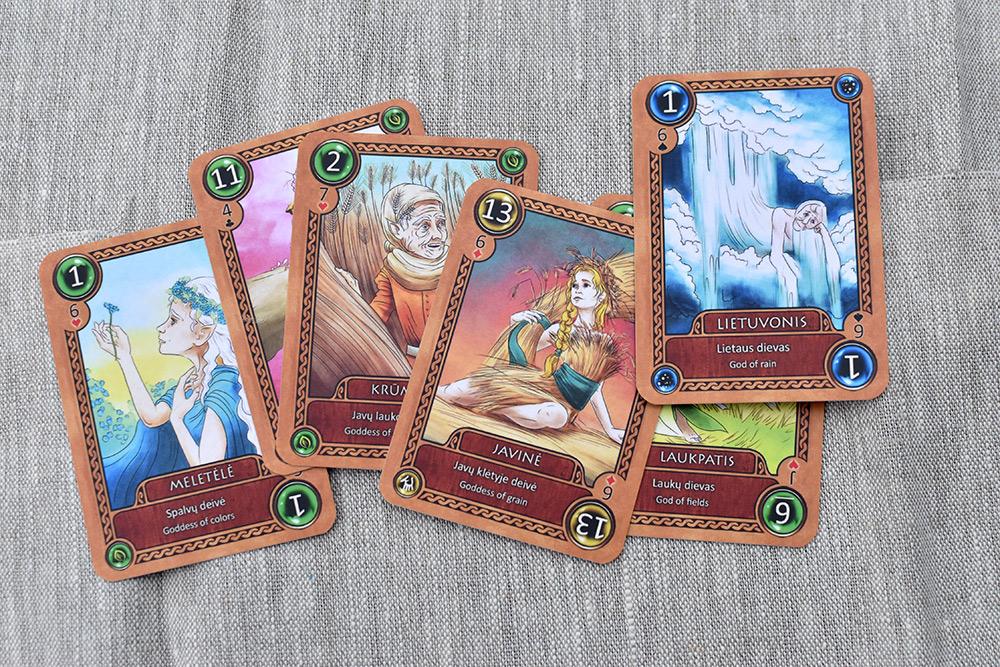 Kartenspiel: Litauische antike Götter - leider kein Flachs-Gott