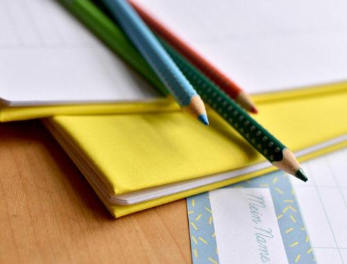 Umschläge für Schulhefte selber nähen