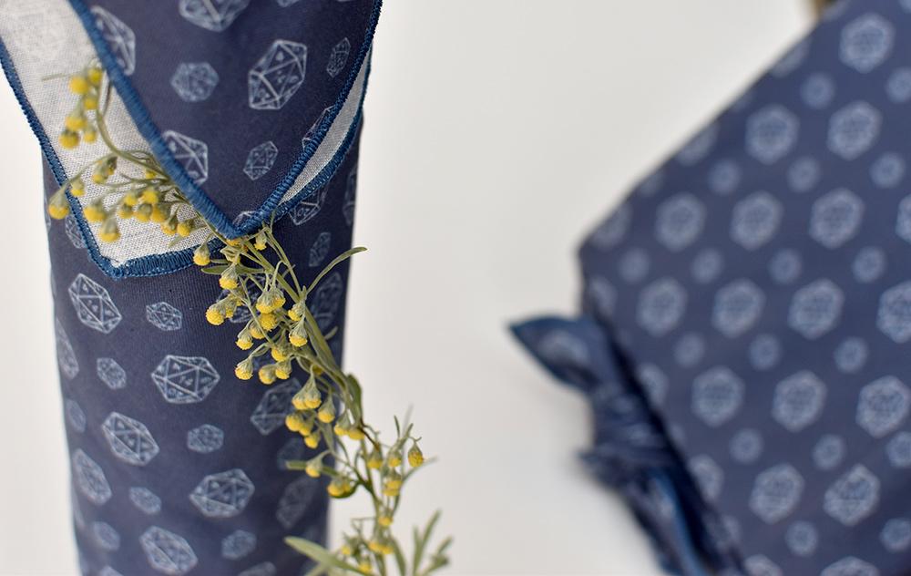 Furoshiki mit Pflanzen dekorieren
