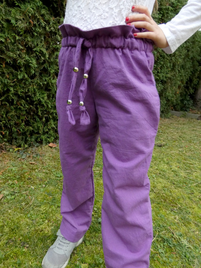 Schnitt für Hose mit Paperbag-Bund