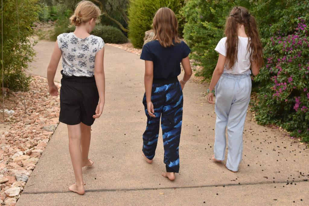 Schnittmuster Paperbag Hose für Mädchen / Schulkinder