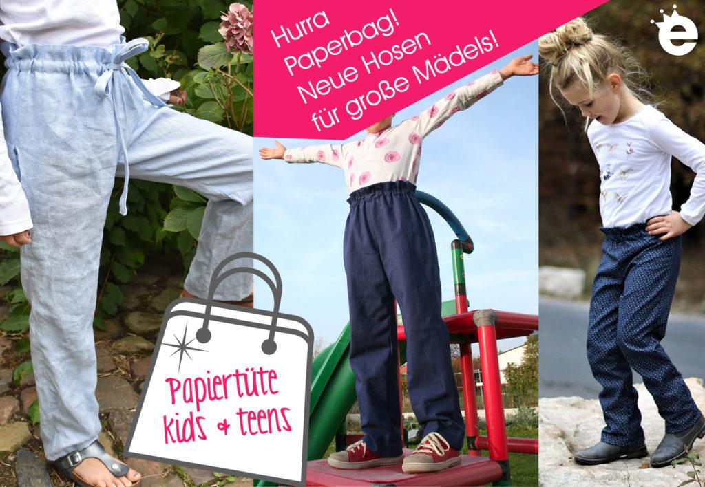 Paperbag Hose für Mädchen nähen