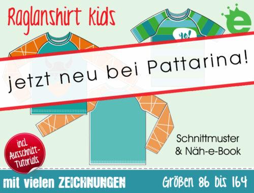 Raglanshirt für Kinder von erbsenprinzessin jetzt neu bei Pattarina Schnittmuster