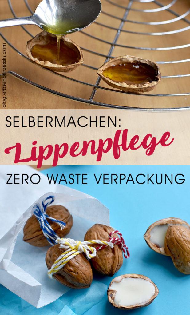Lippenpflege selbermachen in zero waste Verpackung