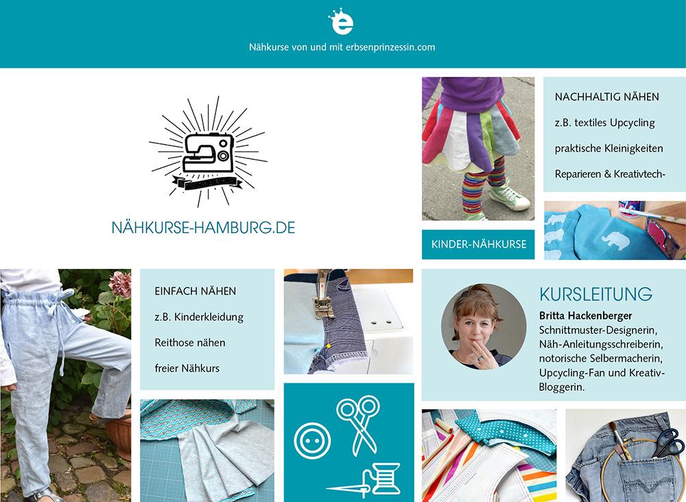 Nähkurse in Hamburg von und mit Britta Hackenberger / erbsenprinzessin.com